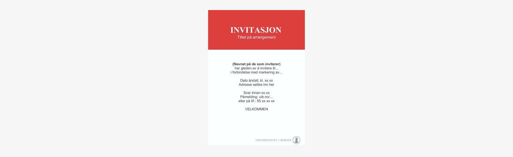 Illustrasjon som viser invitasjon